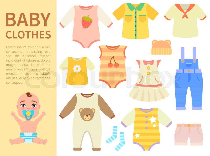 e5be5f7f5572 Set of baby clothes with prints ...