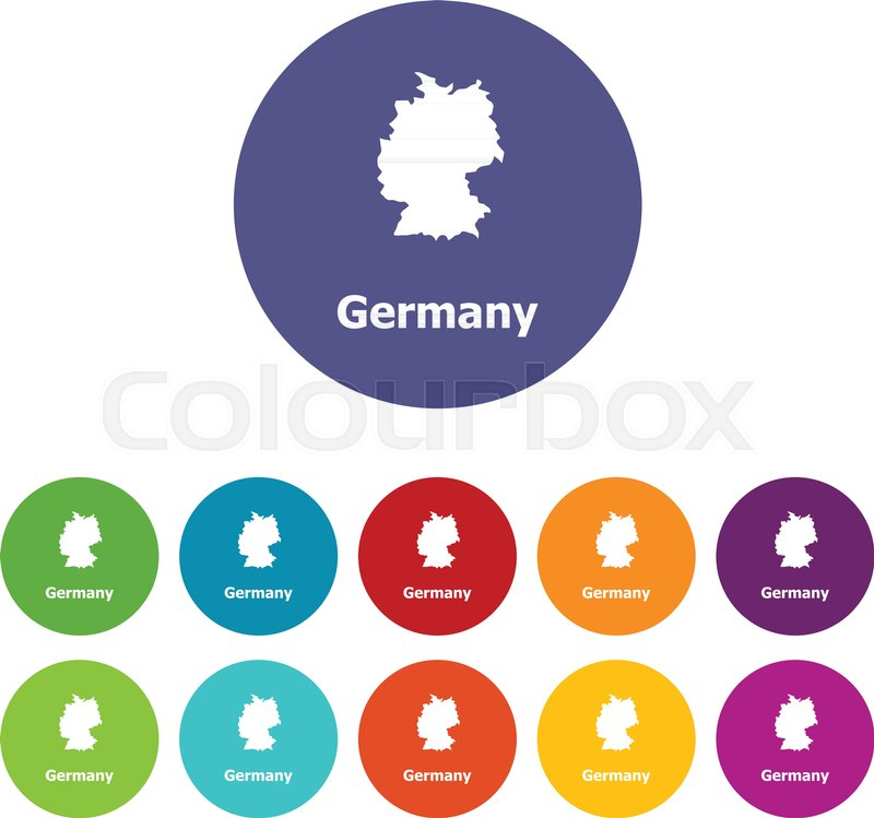Simple Map Of Germany.Germany Map Icon Simple Illustration Stock Vector Colourbox