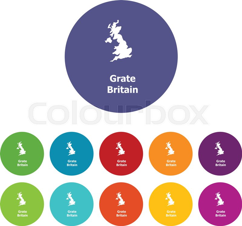 Simple Map Of England.England Map Icon Simple Illustration Stock Vector Colourbox