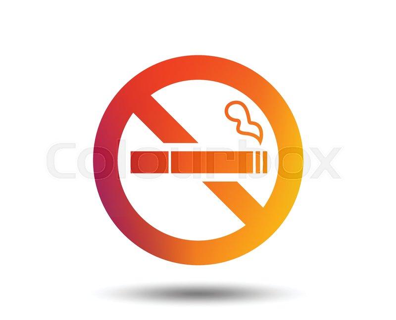 no smoking sign icon quit smoking cigarette symbol blurred