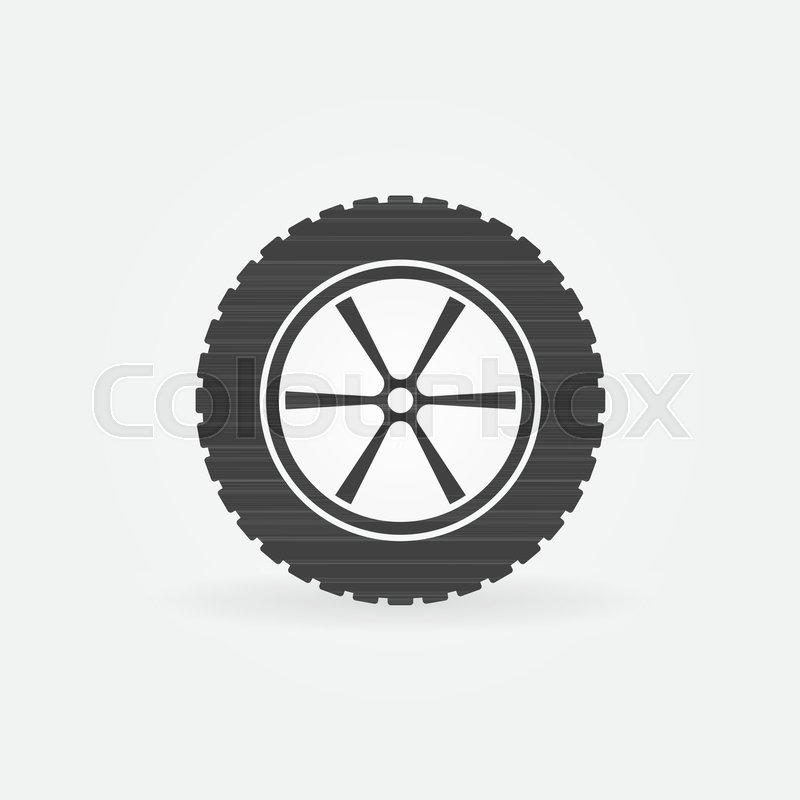 fff02b03409b41 Car wheel with tyre vector icon or ... | Stock vector | Colourbox