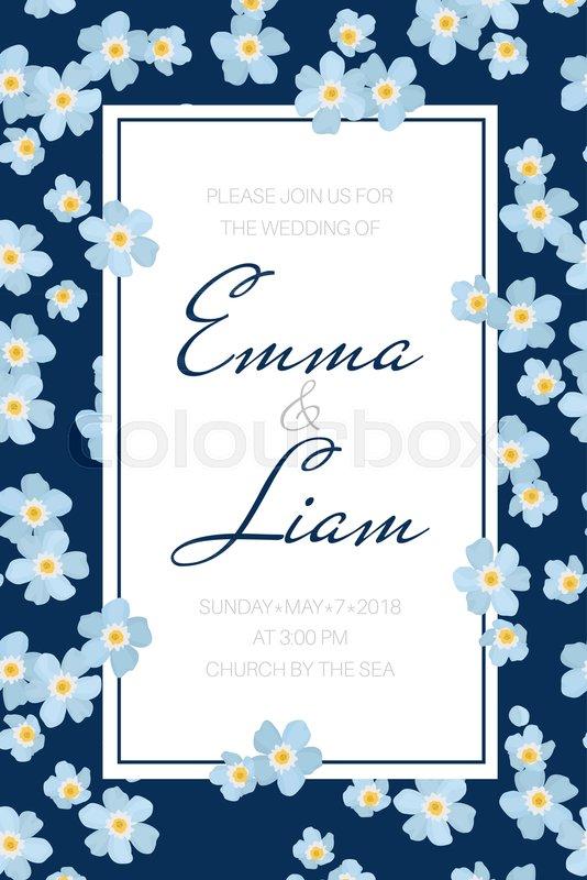 Wedding event invitation card ... | Stock vector | Colourbox