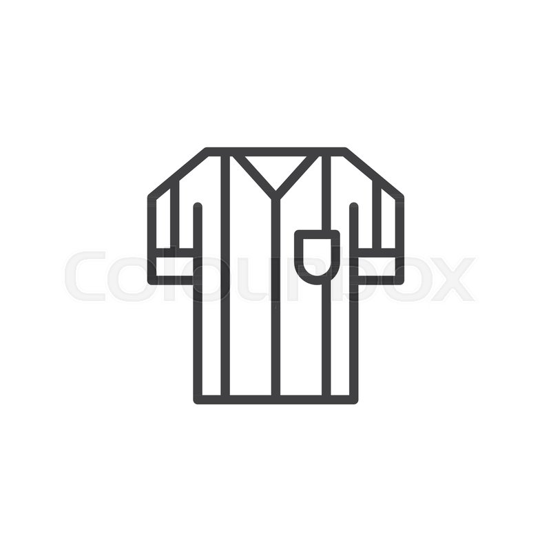 Soccer referee jersey outline icon      | Stock vector