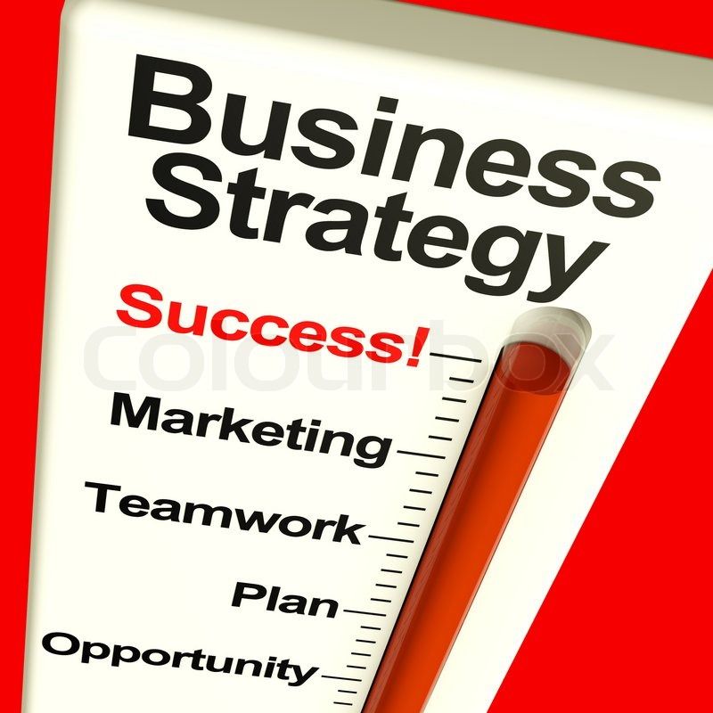 Business Strategy Success Showing Vision And Motivation | Stock Photo |  Colourbox