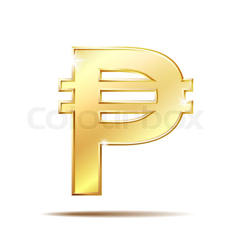 Philippine Peso Currency Symbol Golden Money Sign Vector