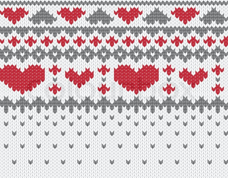 Knitting Patterns For Winter Jackets : Seamless knitted pattern for winter clothing Vector illustration Stock Vect...