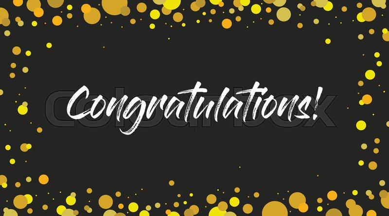 congrats congratulations banner handwritten modern brush lettering