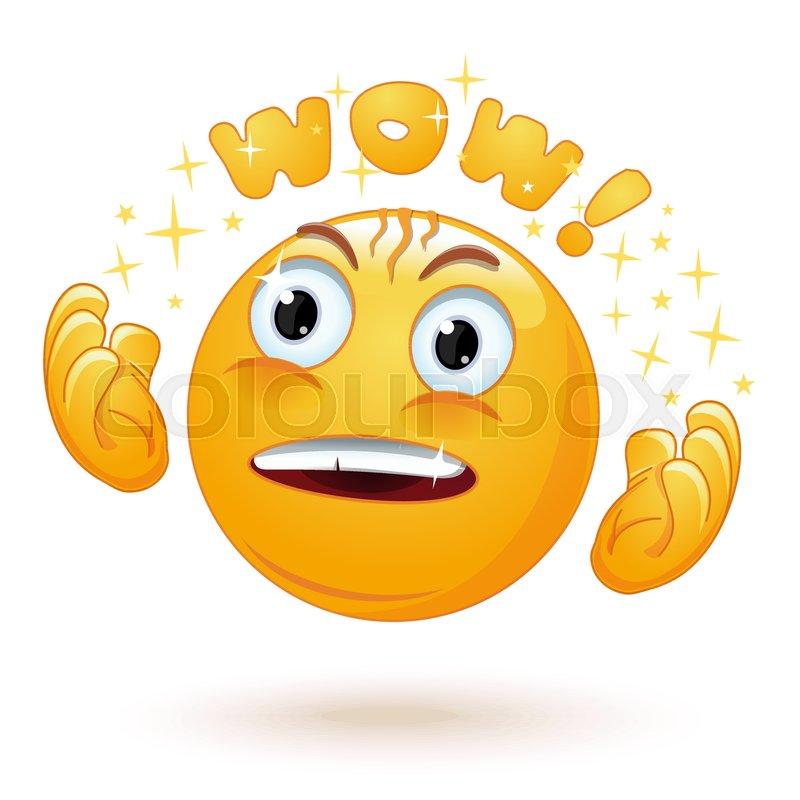 Cute enraptured emotions emoji      | Stock vector | Colourbox