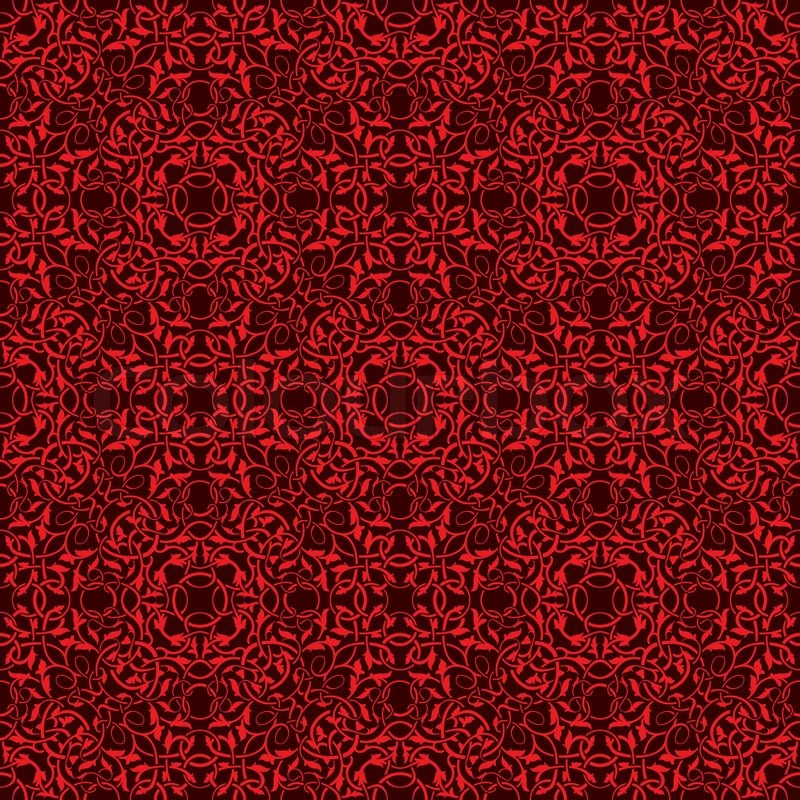 Red And White Patterned Wallpaper: Red Seamless Wallpaper Pattern
