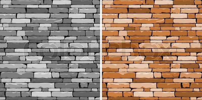 Muster Fur Pflastern : StockVektor von Nahtlose Stein Hintergrund in zwei Varianten für