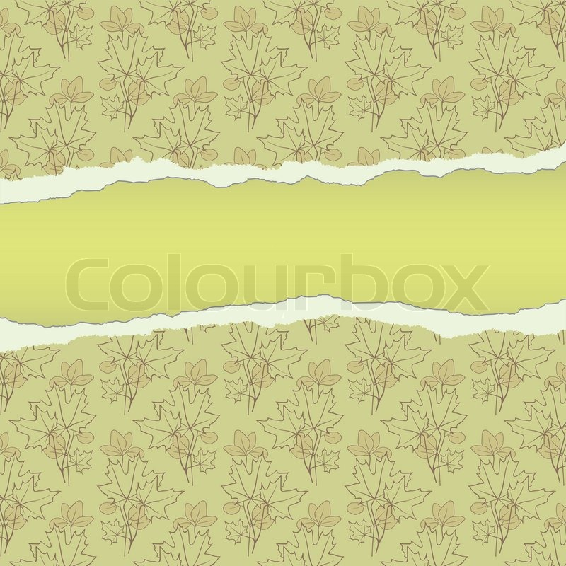 Ein Text leere mit zerrissenem Papier Rahmen | Vektorgrafik | Colourbox