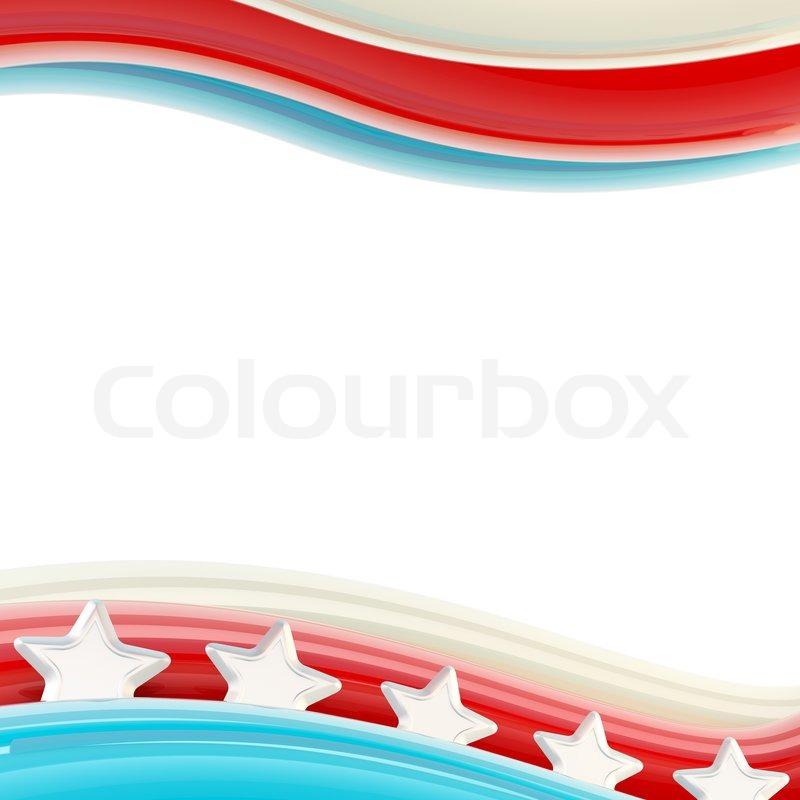 Wavy Usa Flag Like Glossy Bright Design Template