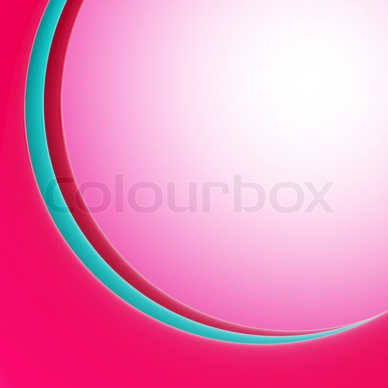 curved ark like light background pink and blue design template stock photo colourbox