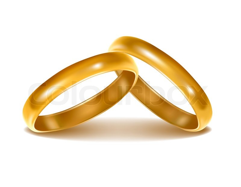 Background with wedding rings Stock Photo Colourbox