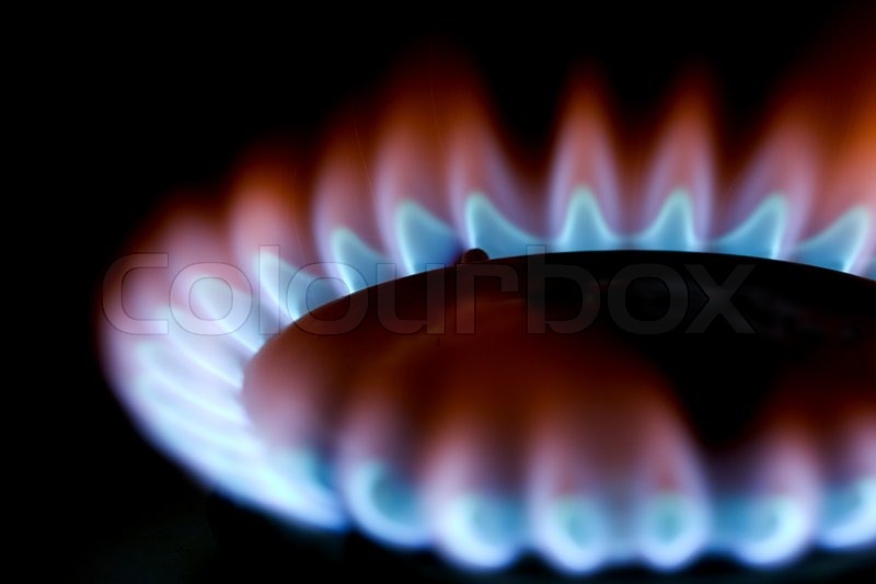 gas stove flame. Blue Flames Of Gas Stove, Stock Photo Stove Flame E