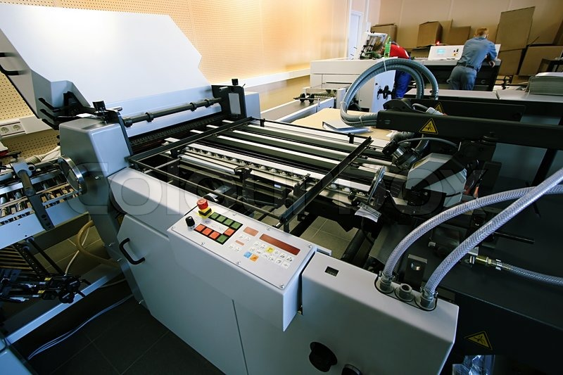 The New Polygraphic Machine In A Modern Printing House