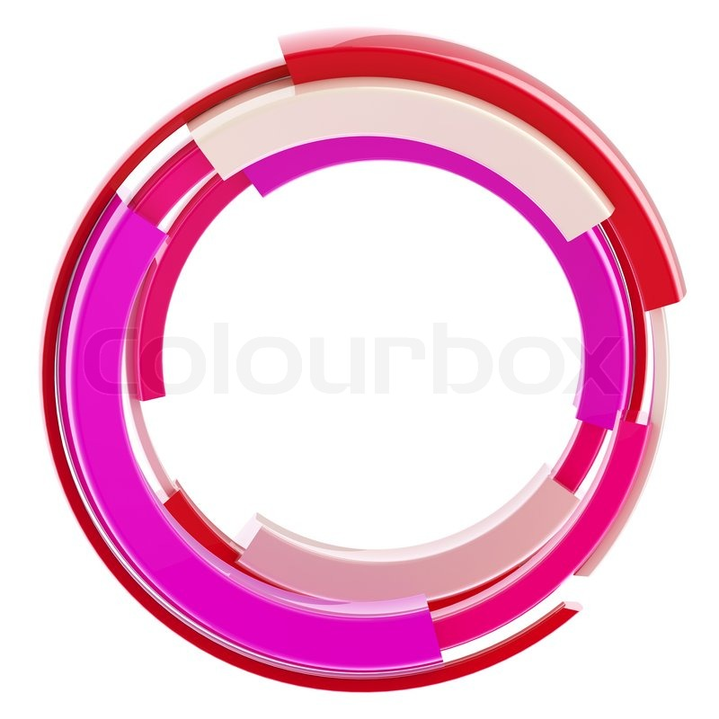 Abstract Techno Round Glossy Frame Border Isolated On