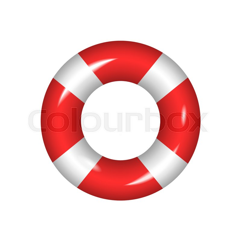 52479c290f36 Life buoy isolated on a white ...
