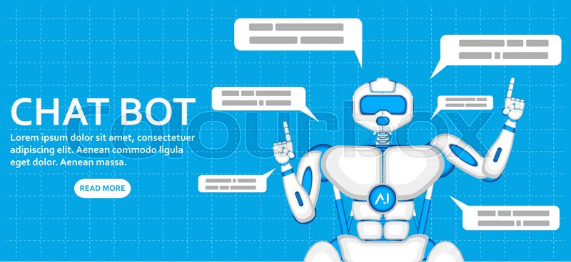 Chat bot with speech bubbles  Trendy     | Stock vector