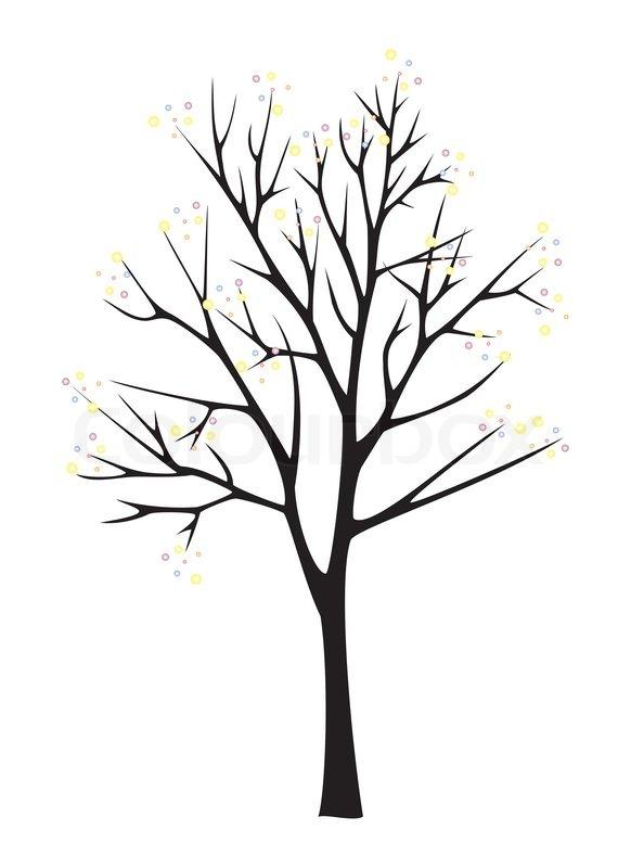 bare fall tree clip art - photo #36