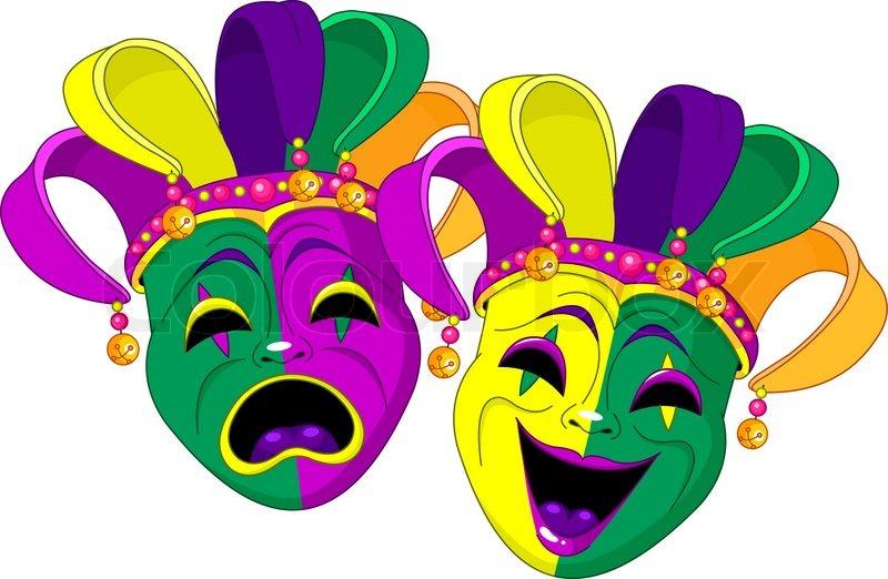 Mardi Gras Comedy And Stock Vector Colourbox