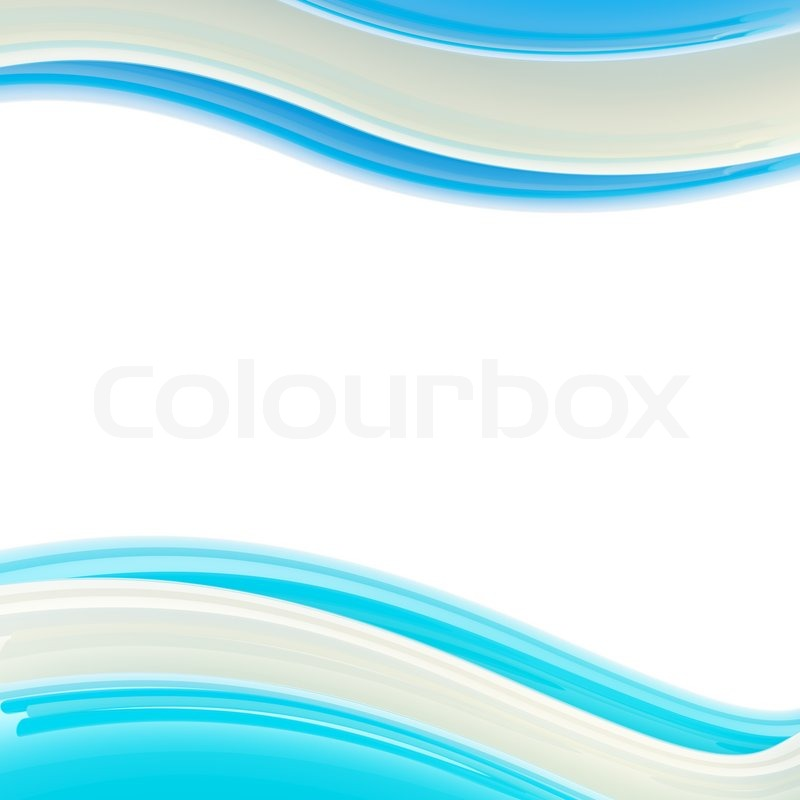 wavy blue and white glossy bright design template background
