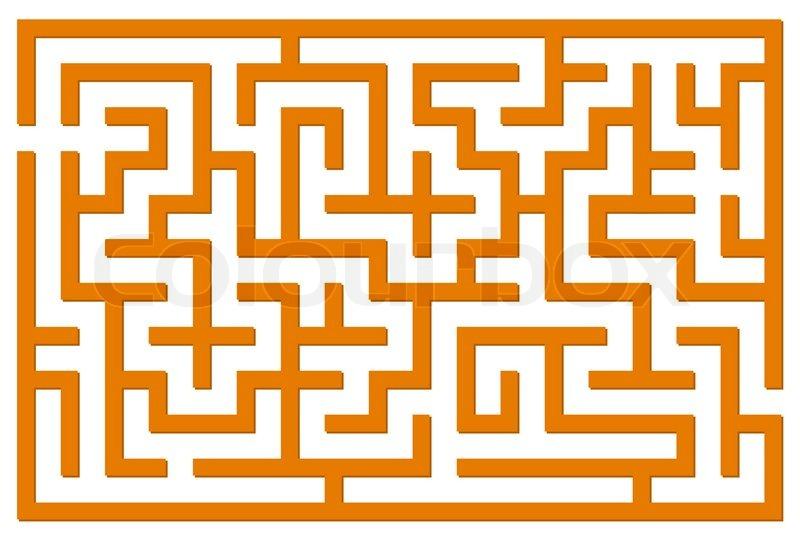 Maze Vector Llustration Stock Vector Colourbox