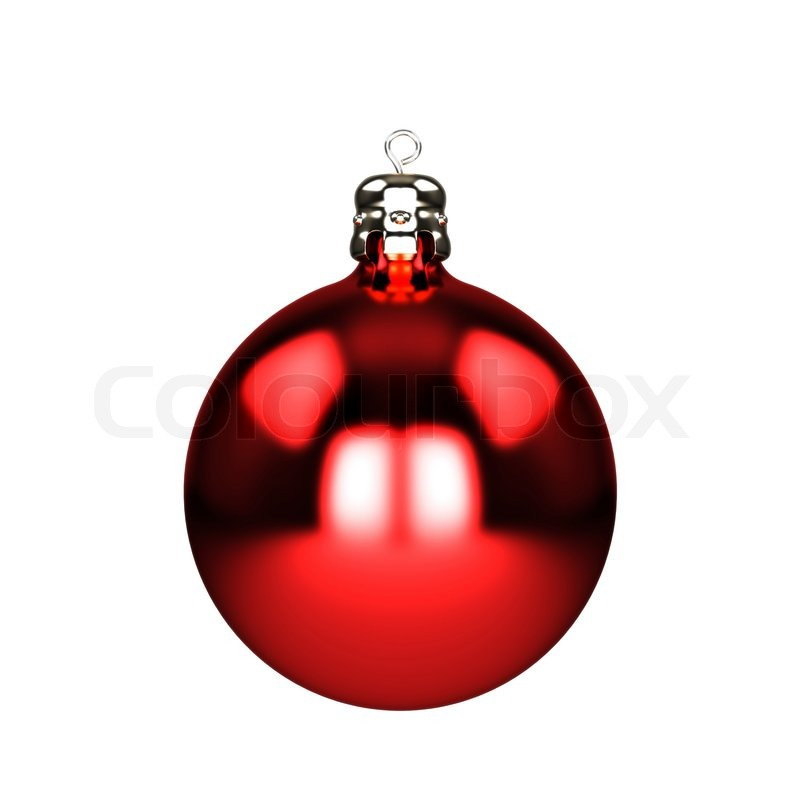red christmas decorations baubles isolated on white stock photo colourbox - Red Christmas Decorations