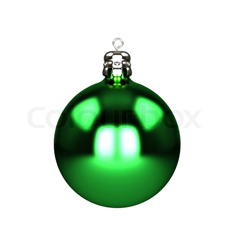 green christmas decorations baubles isolated on white stock photo colourbox - Green Christmas Decorations