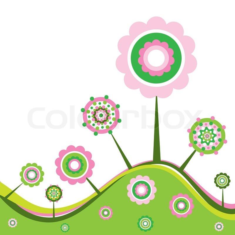 Floral Spring Background Vector Illustration