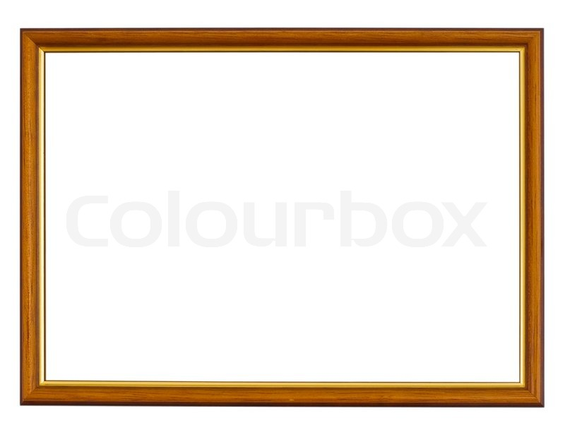 Rectangular wooden photo frame with gilt | Stock Photo | Colourbox