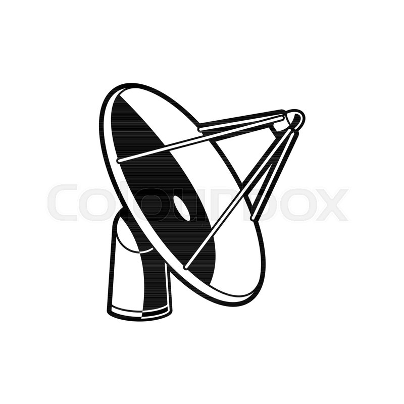 satellite dish antenna receiver of stock vector colourbox Dish TV Antenna