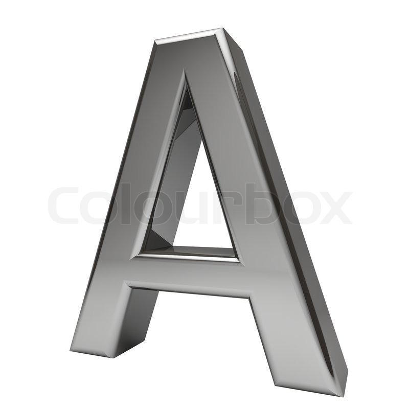 Metallic Buchstaben A isoliert auf weißem Hintergrund   Stockfoto ...