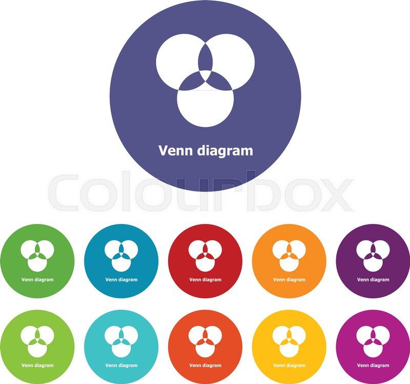Round venn diagram icons color set vector for any web design on round venn diagram icons color set vector for any web design on white background vector ccuart Choice Image