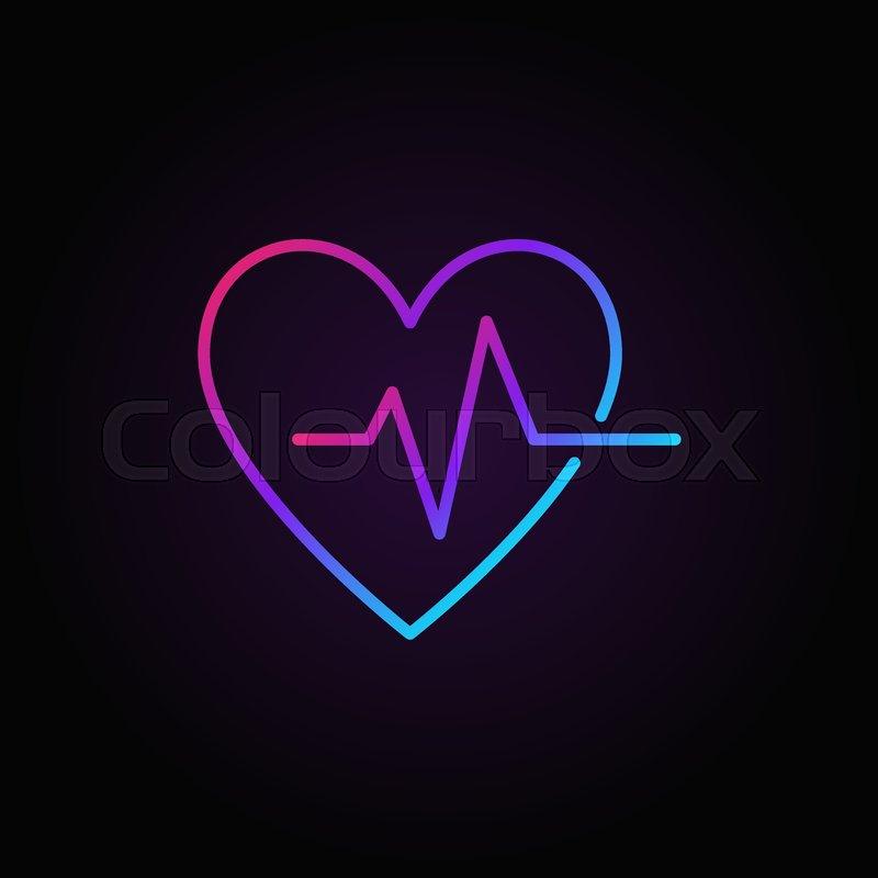Heartbeat Vector Colorful Icon Stock Vector Colourbox
