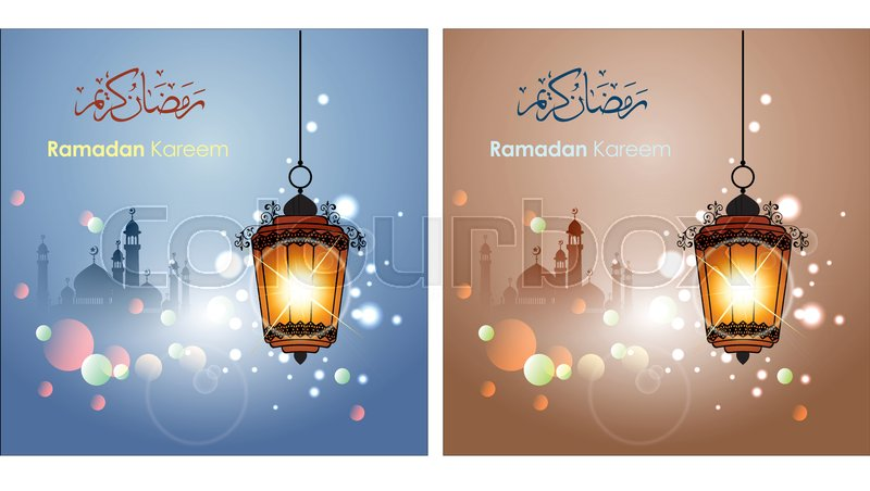 Ramadan greetings in arabic script an islamic greeting card for ramadan greetings in arabic script an islamic greeting card for holy month of ramadan kareem vector and illustration eps 10 stock vector colourbox m4hsunfo