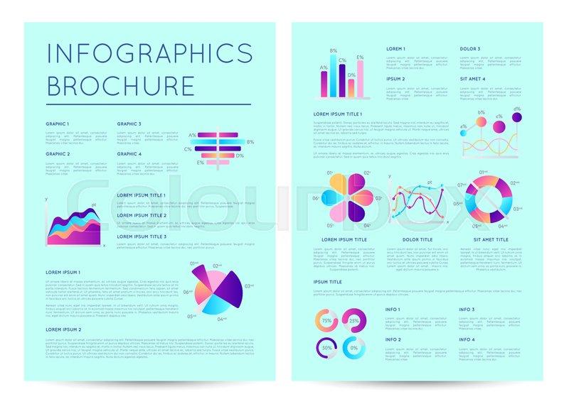 financial brochure with indicators diagrams abstract data