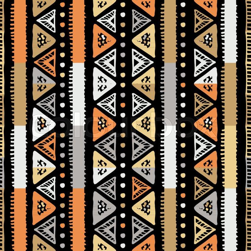 Handmade Colored Stripes Bright Tribal Seamless Pattern Look Like