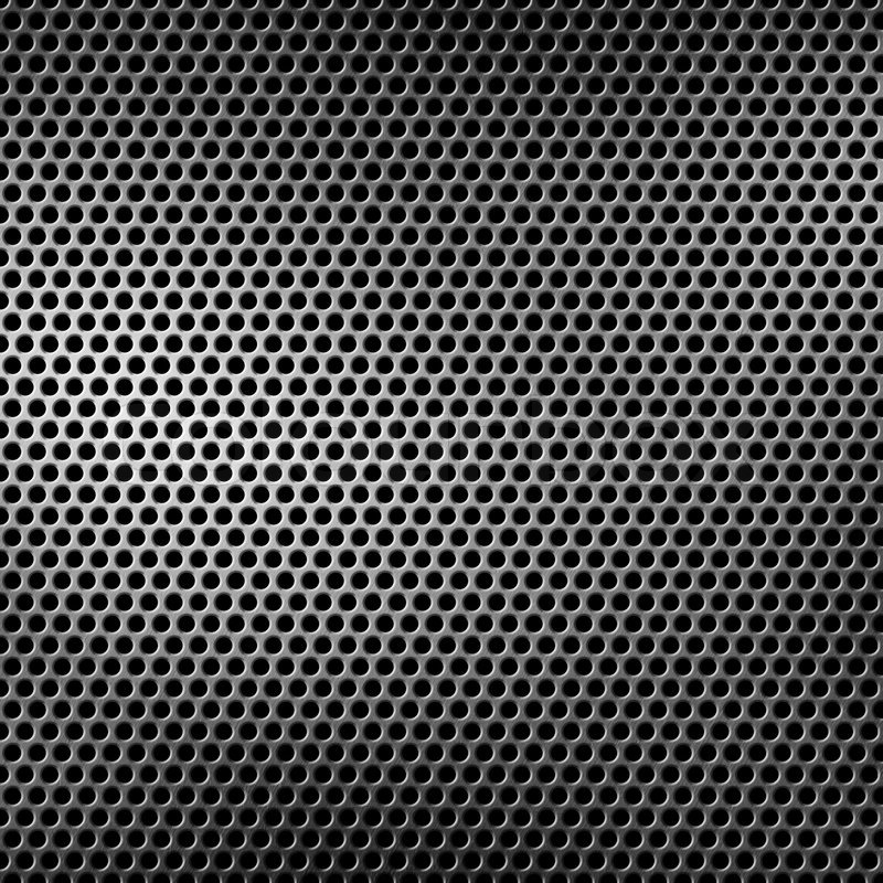 Stock image of 'Perforated metal background'