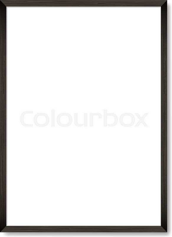Blank Picture Frame Template Realistic Black Frame With Shadow On