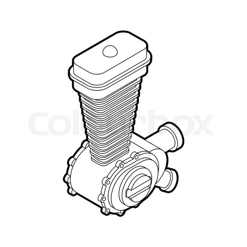 Engine Racing Isometric Motor
