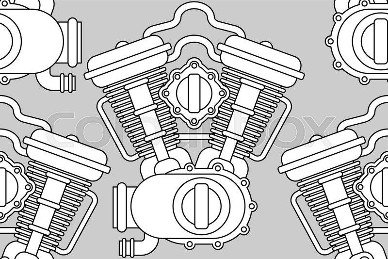 Engine Bike Pattern Seamless Motor