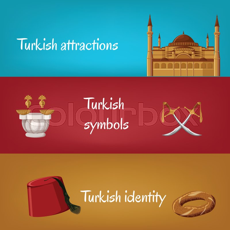 Turkish touristic banners with     | Stock vector | Colourbox