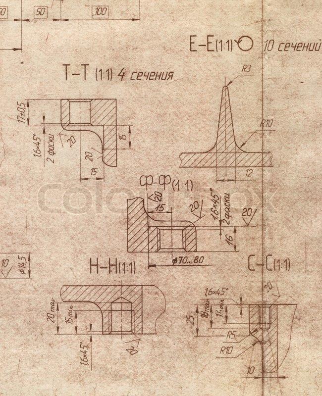 The old engineering blueprint texture stock photo colourbox malvernweather Choice Image