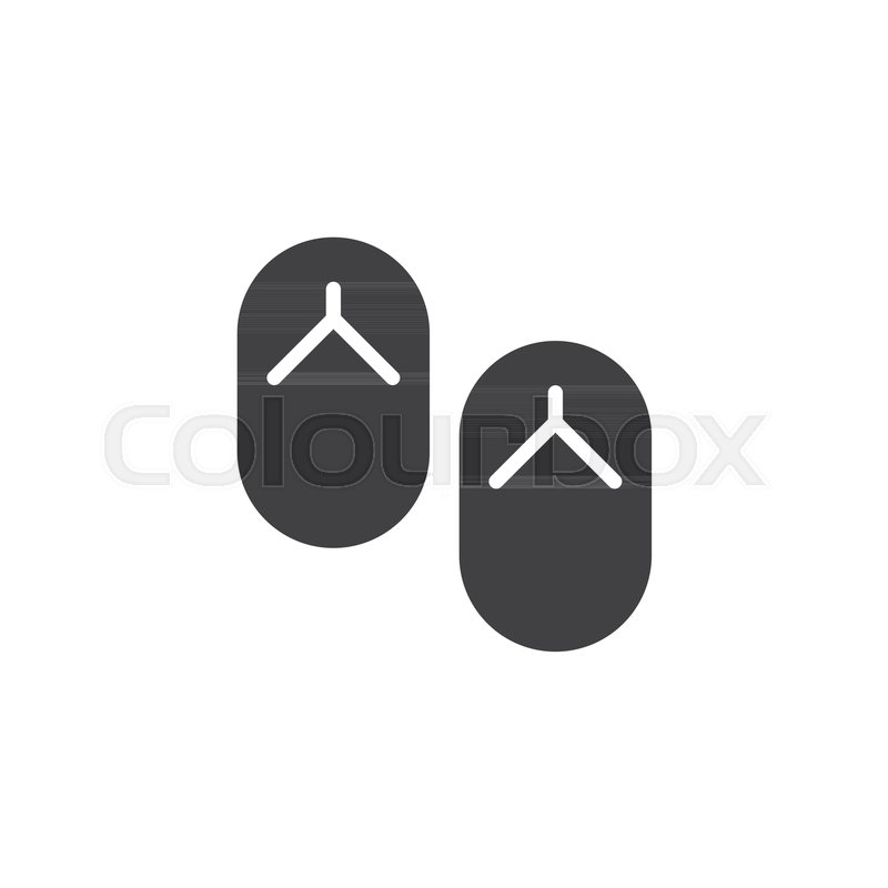 ac1cfe75aedbc Beach slippers vector icon. filled ...