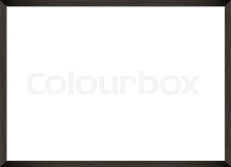 Blank Picture Frame Template Realistic Black Frame For Photo Or