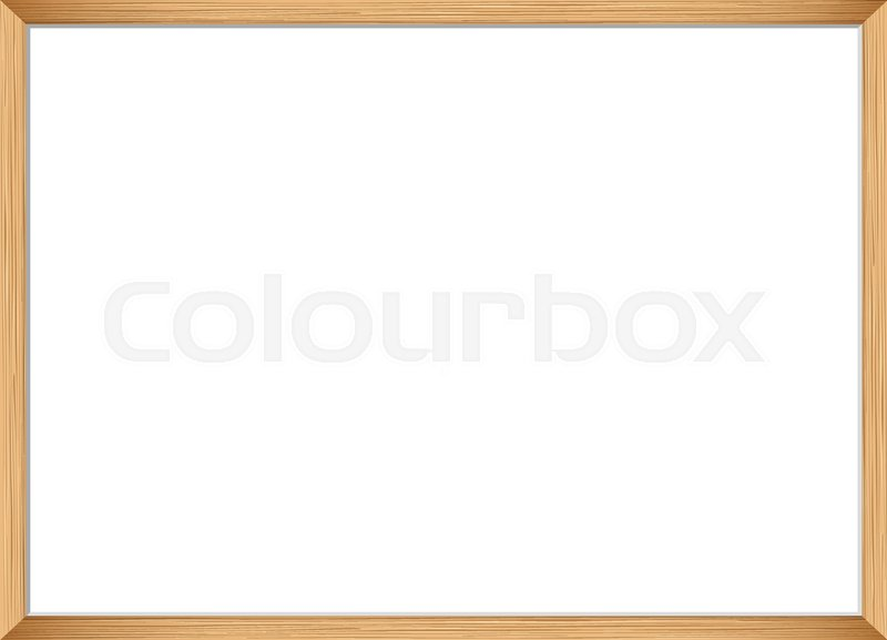 Blank picture frame template. Realistic wooden frame for photo or ...