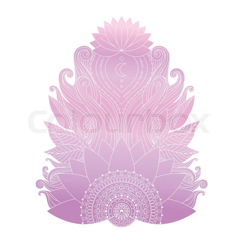 Spiritual Symbol Ornamental Cold Pink Stock Vector Colourbox