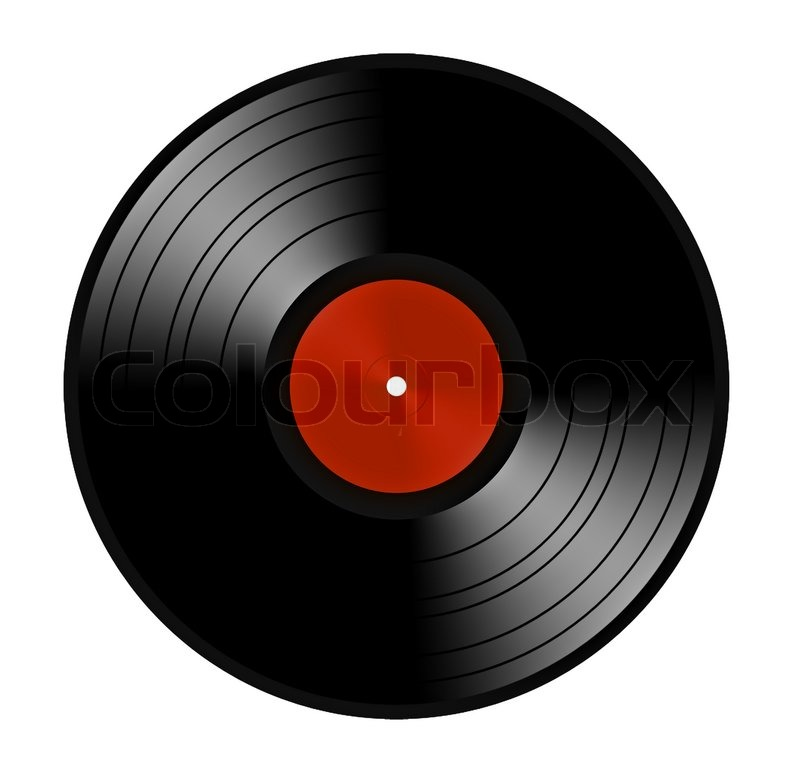 Black Vinyl Record Lp Album Disc Stock Photo Colourbox