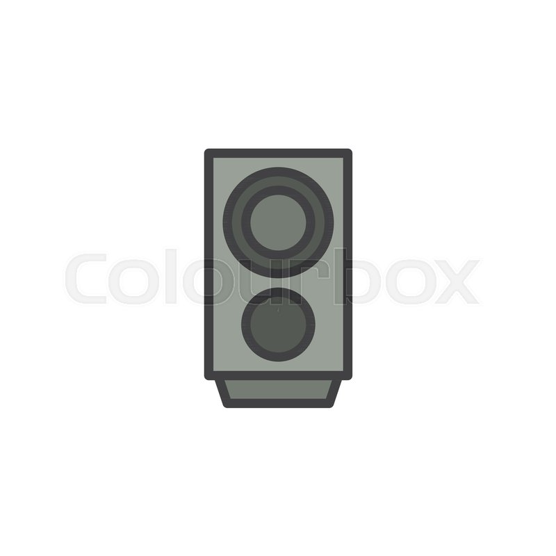 Audio speaker filled outline icon, line vector sign, linear colorful ...